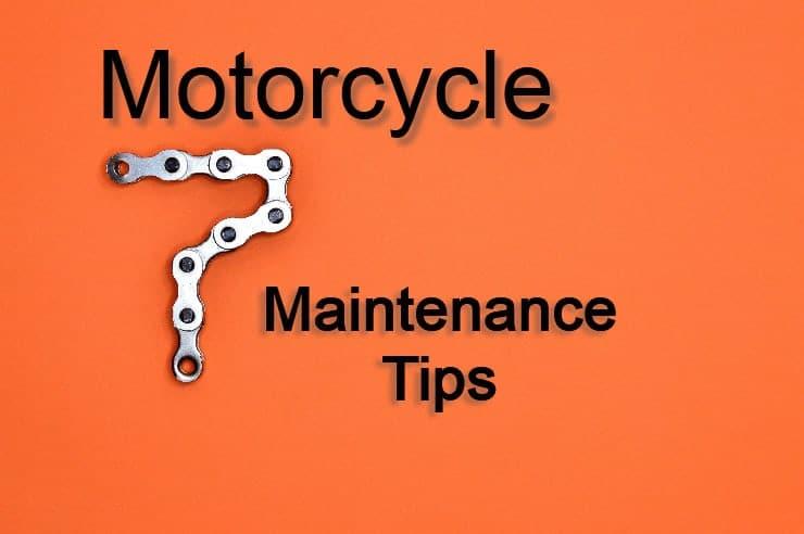 7 motorcycle maintenance tips