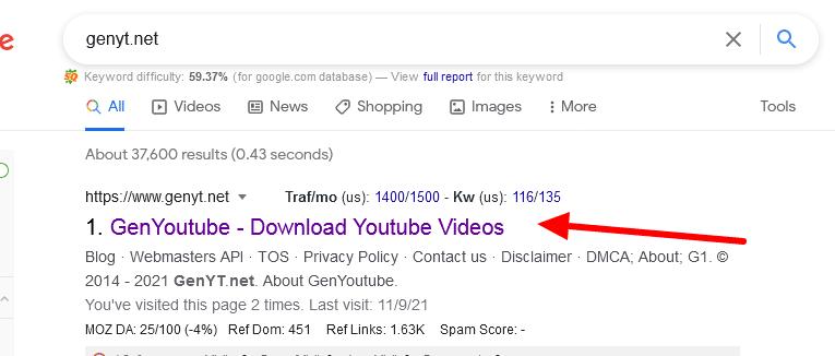 genyt google search